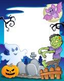 Obramia z Halloweenowym tematem 7 ilustracji