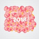 Obramiający nowego roku plakat nad płatkami Obraz Stock