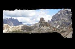 Obramiający widok dolomit góry obrazy stock