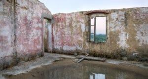 Obramiający widok od starego window4 zdjęcie royalty free
