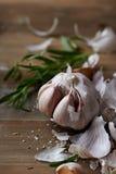 Obrana czosnek żarówka, rozmaryny i Zdjęcie Stock