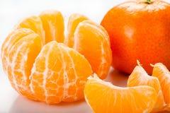 Obrani kawałki pomarańcze Obrazy Stock