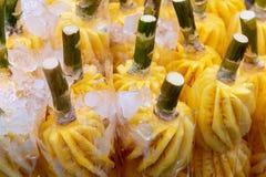 Obrany świeży ananas obraz royalty free