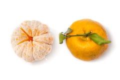 Obrany Tangerine i Tangerine Zdjęcia Stock