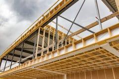 Obras de uma construção comercial foto de stock royalty free