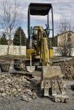 Obras en fase de creación del excavador Fotografía de archivo libre de regalías