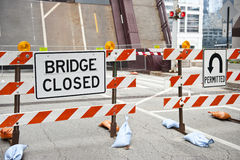 Obras na ponte Imagens de Stock