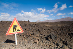 Obras por carretera de la lava imagen de archivo libre de regalías