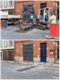 Obras por carretera en Toulouse Fotografía de archivo libre de regalías