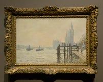 Obraz Claude Monet w national gallery w Londyn Obrazy Stock