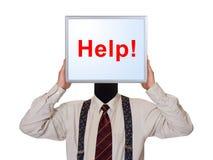 obraz komputerowy biznesmen pomocy Obrazy Stock
