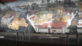 Obraz na ściennej ramayana opowieści przy Szmaragdowym Buddha Wat Phra Kaew zbiory wideo