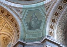 Obraz ochraniający zarabiać netto wśrodku Esztergom bazyliki Świątobliwy Ambrose, Esztergom, Węgry fotografia royalty free