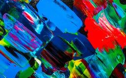 Obraz olejny abstrakcja, jaskrawi kolory Tło Zdjęcie Royalty Free