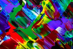 Obraz olejny abstrakcja, jaskrawi kolory Tło Obraz Royalty Free