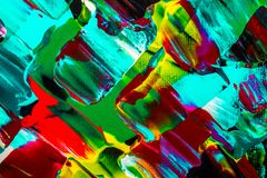 Obraz olejny abstrakcja, jaskrawi kolory Tło Zdjęcie Stock