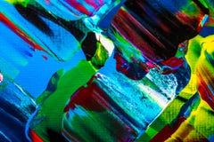 Obraz olejny abstrakcja, jaskrawi kolory Tło Fotografia Royalty Free