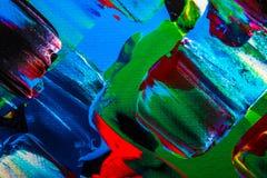Obraz olejny abstrakcja, jaskrawi kolory Tło Obrazy Royalty Free