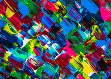 Obraz olejny abstrakcja, jaskrawi kolory Tło Obrazy Stock