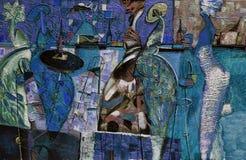 Obraz olejny, artysta Romański Nogin, serii ` Żeńska rozmowa ` autora ` s wersja kolor royalty ilustracja