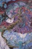 Obraz olejny, artysta Romański Nogin, serii ` kobiet rozmowa ` ilustracji