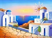 Obraz Olejny - Grecja ilustracja wektor