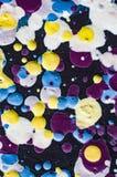 Obraz olejny kolorowe krople na brezentowej ilustraci Zdjęcie Stock