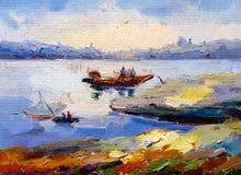 Obraz Olejny - krajobraz ilustracja wektor