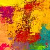 Obraz olejny na brezentowy handmade Abstrakcjonistycznej sztuki tekstura struktura kolorowa nowożytna grafika Uderzenia gruba far zdjęcie royalty free