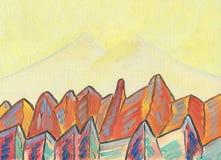 Obraz olejny na kanwie Baśniowe góry royalty ilustracja