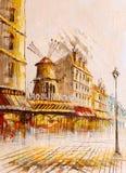 Obraz Olejny - Uliczny widok Paryż ilustracja wektor