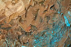 Obraz Olejny zamknięta up tekstura z szczotkarskimi uderzeniami Fotografia Royalty Free