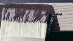 Obraz praca, obraz drewniana deska z farby muśnięciem zbiory