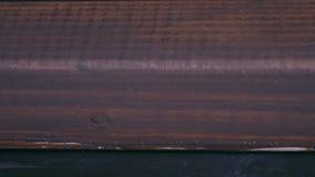 Obraz praca, obraz drewniana deska z farby muśnięciem zbiory wideo