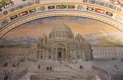 Obraz St Peter bazylika przy Watykańskimi muzeami obrazy royalty free