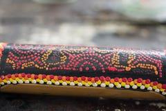 Obraz stubarwny na bambusowym barze Obraz Stock