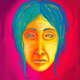 obraz twarz obraz ilustracji