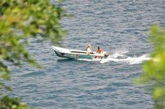 Obrazek łódź na morzu fotografia stock