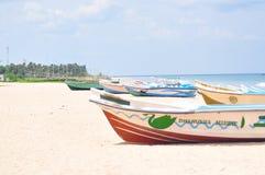 Obrazek łódź na plaży obraz royalty free