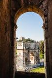 Obrazek łuk brać od kolosseumu Constantine włochy Rzymu Zdjęcia Royalty Free