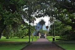 Obrazek ścieżka fontanna w Auckland Albert parku obraz stock
