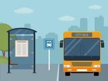 Obrazek autobus na autobusowej przerwie Obraz Royalty Free