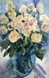 Obrazek białe róże Obraz Royalty Free