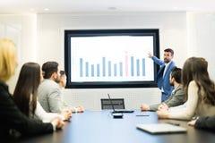 Obrazek biznesowy spotkanie w sala konferencyjnej fotografia stock