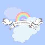 Obrazek dla inspiraci Podąża twój sen Motywacyjne wycena Obraz Stock