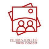 Obrazek ikona Jeden ustalone sieci ikony Ilustracji
