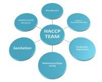 Obrazek jest przedstawieniem członek HACCP drużyny styl 2 Obrazy Stock