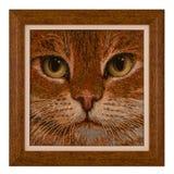 obrazek Kot, koraliki Zdjęcie Stock