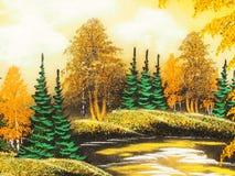Obrazek & x22; Lasowy Landscape& x22; Zdjęcie Stock