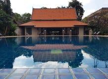 Obrazek Luksusowy Domowy Pływacki basen Zdjęcie Stock